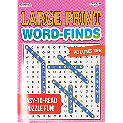 Word Find Puzzle Books For Adults Pack of 4 Large Print Puzzles (titles may vary): Toys & Games