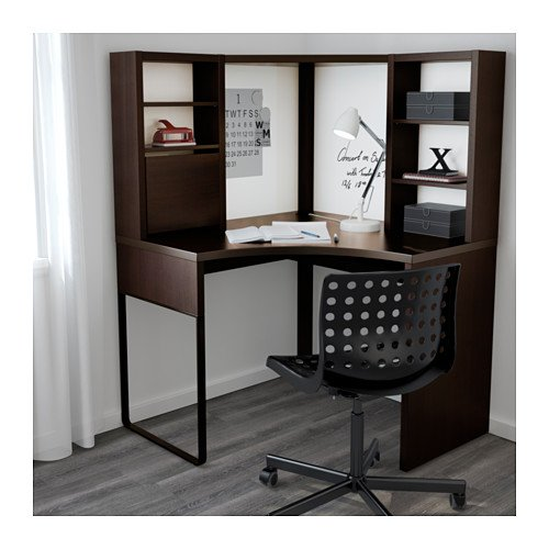 detailed look 4b441 eeb3f Amazon.com : Ikea Corner workstation, black-brown ...
