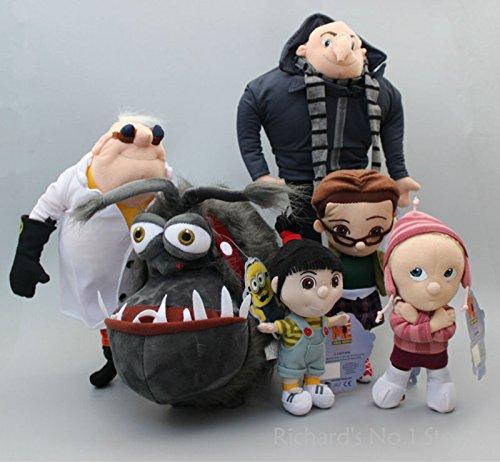 6 pcs/set Despicable ME Minions Girls Agnes Edith Margo Papa Gru Dog Kyle Dr. Nefario Soft Plush Toys Doll Kid Xmas -