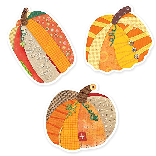 Creative Teaching Press Pumpkins 10-Inch Jumbo Designer Cut-Outs (7033) (Pumpkin Cut Outs Halloween)