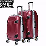 2 Piece Travel Luggage Set Travel Luggage Bag With TSA Lock Spinner Hard Shell Lightweight Suitcase Luggage Travel Bag (Red)