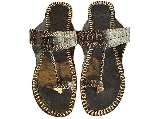 Step n Style Schritt N Style Damen Ethnic Kolhapuri Tribal Schuhe Kameez Khussa Casual jutti