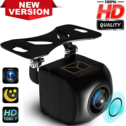 (Backup Camera Night Vision - HD 1080p - Car Rear View Parking Camera - Best 170° Wide View Angel - Waterproof Reverse Auto Back Up Car Backing Camera - High Definition - Fits All Vehicles by Yanees)