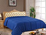 Pure Element All Season Microfiber Comforter - Plush, Comfortable and Hypoallergenic Lightweight Blanket (Twin, Blue)