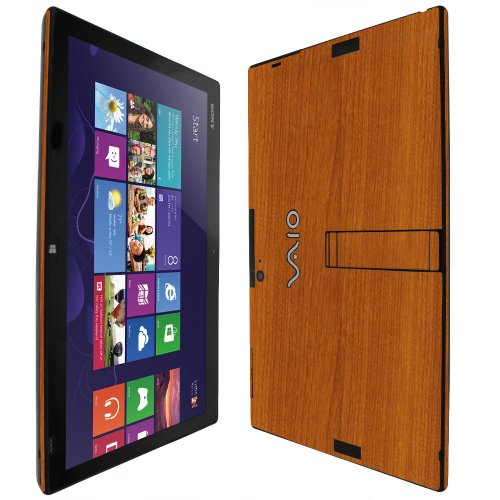Skinomi TechSkin Light Wood Full Body Skin Protector Compatible with Sony Vaio Tap 11