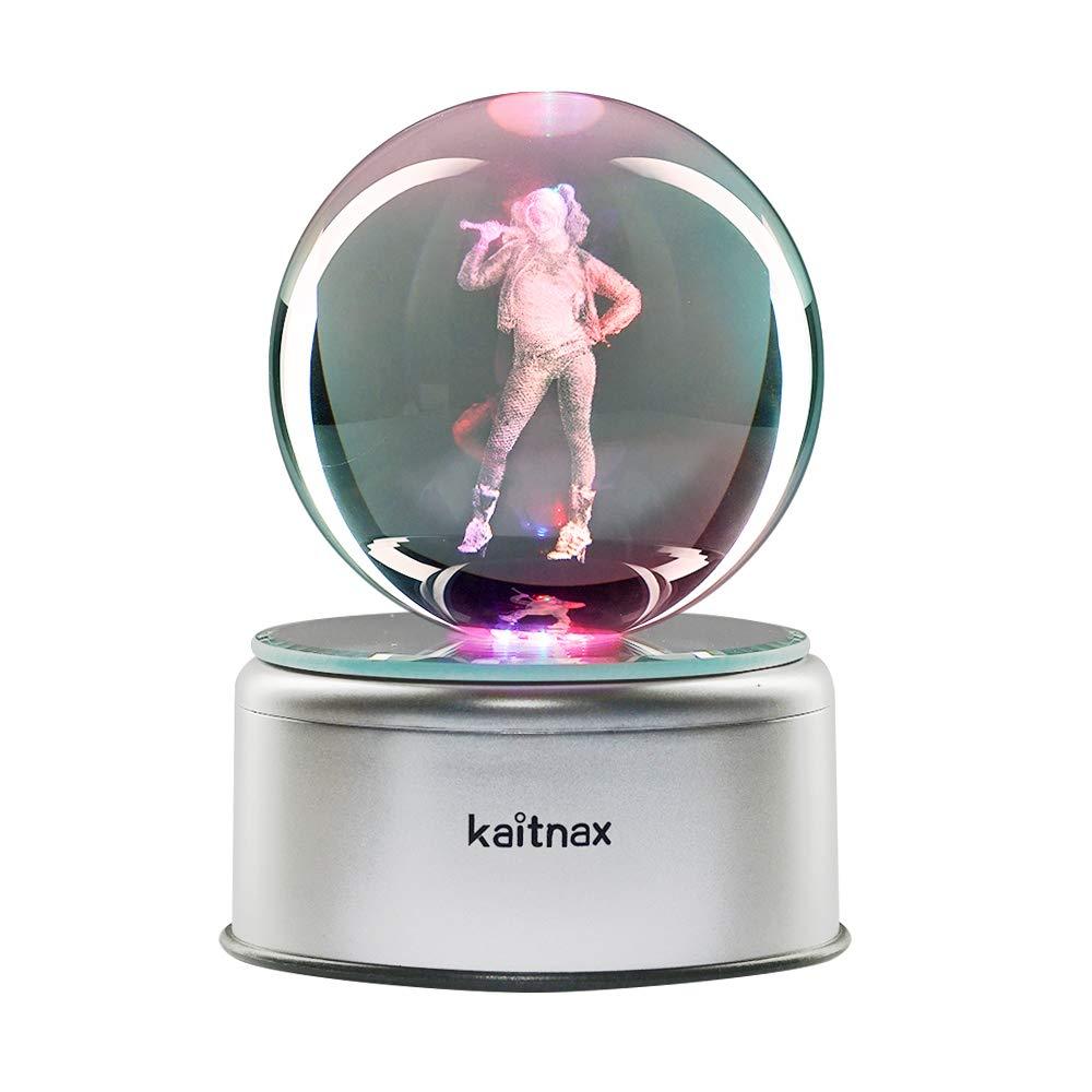 3D Cool Laser Etching Crystal Ball Night Light Gift Lamp for Kids Children Christmas (Harley Quinn)