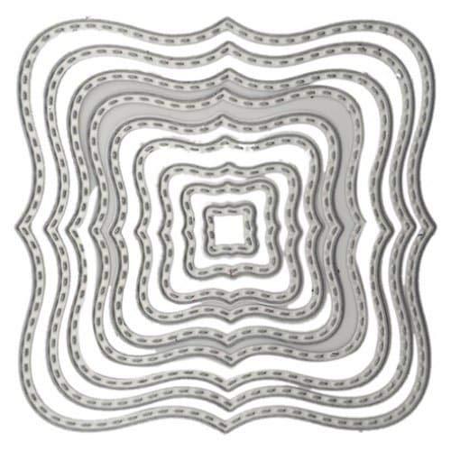 Weinhsl Lf7347 Wave DIY Corte De Acero Al Carbono Die - Silver
