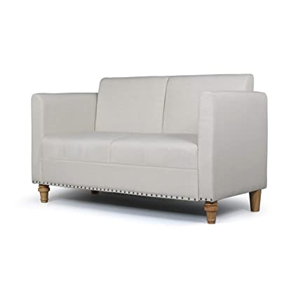 Phenomenal Aodailihb Modern Soft Cloth Loveseat Sofa Small Space Configurable Couch Beige Bralicious Painted Fabric Chair Ideas Braliciousco