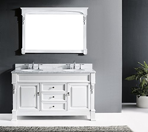 Virtu USA GS-4060-WMSQ-WH Huntshire Single Bathroom Vanity C