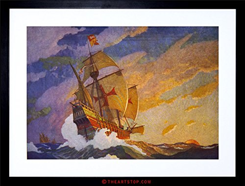 Wee Blue Coo The Art Stop Painting Landscape Columbus Santa Maria Ship New Framed Print F12X5108