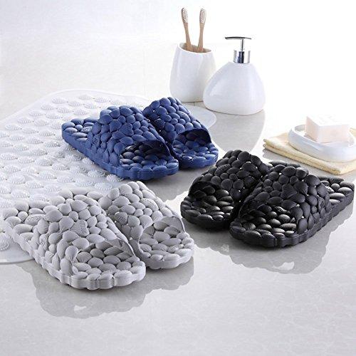 Slippers Slip Slip Thick Finleoo House Bathroom Blue Women on Shoes Slide Shower Pool 2dark Non Sandals Sole Men's wrqXEE8SxI