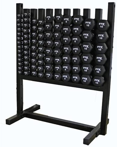 VTX by Troy Barbell MDR-NPAC Aerobic Pac Locking Rack 43 Pairs of Neoprene Coated Dumbbells, One Size