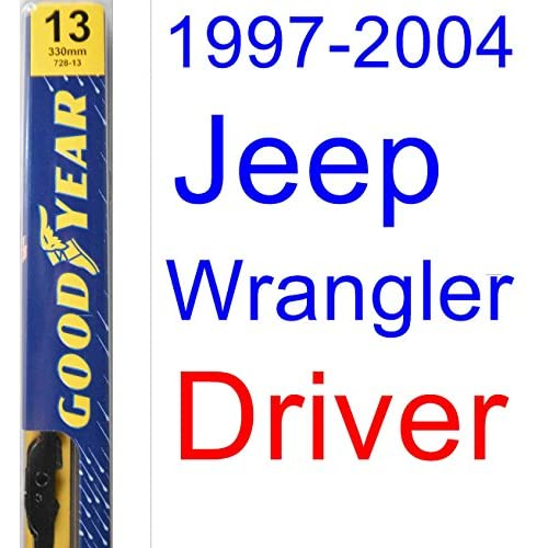 1997-2004 Jeep Wrangler Wiper Blade (Driver) (Goodyear Wiper Blades-Premium) (1998,1999,2000,2001,2002,2003) free shipping