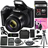 Canon PowerShot SX420 IS Digital Camera (Black) w/20MP, 42x Optical Zoom, 720p HD Video & Wi-Fi + 32GB Card + Reader + Grip + Spare Battery/Charger + Tripod + Complete Camera Works Accessory Bundle