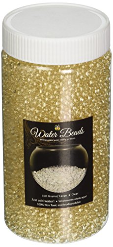 Homeford Bulk Premium Water Beads Pearls Jelly Balls, Clear, Large/18-Ounce (Pearl Beads Bulk)