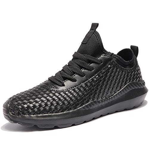 TIAMOU Running Men and Women Walking shoes Sports Mens Slip Sneakers Casual Basketball Fashion Outdoor Movement Black Leisure Rubber Deodorize Absorb Sweat Stress Reliever Soft Touch Flat shoes for Jogging Travel Training Indoor workout