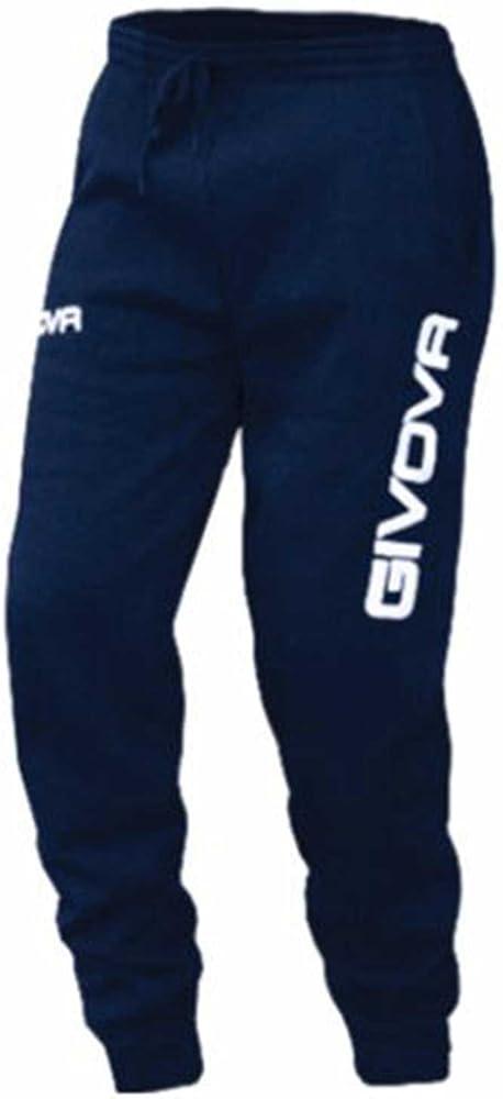 Givova, pantalones de algodón mod. moon, azul , S: Amazon.es ...