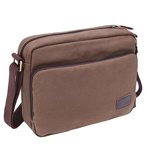 Yiy 3013 Vintage Men's Canvas Over Messenger Cross Shoulder Leather body Man Bag rwrPFxqd5