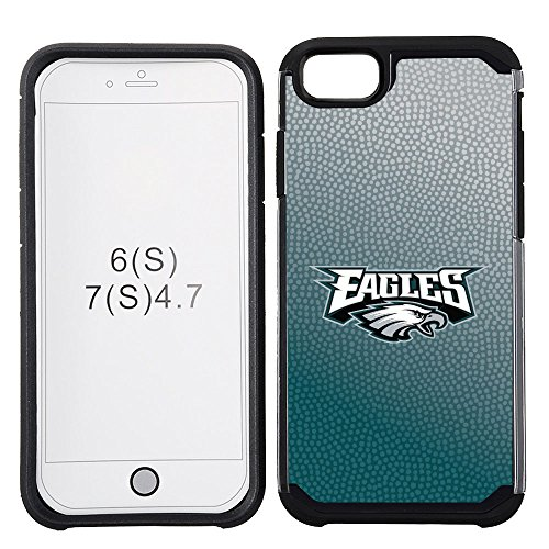 NFL Philadelphia Eagles Gradient Football Pebble Grain Feel iPhone 7 Case