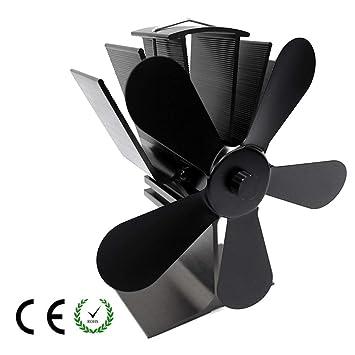 HLDUYIN Ventiladores para Chimeneas Estufa De Leña Calor Ventilador Estufa De Leña Ventilador para Madera Quemador De Troncos Ultra Silencioso Aumenta 40% ...