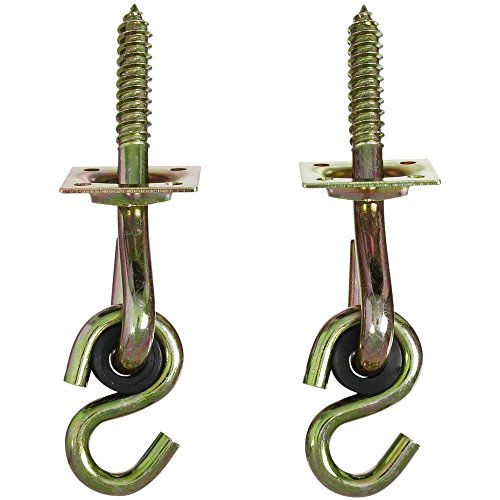 - National Hardware N264-069 V2038 Swing Hook Kits in Yellow Chromate, 2 pack
