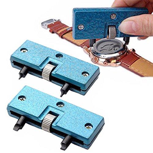 Kit de Herramientas de reparación de Llave de Tornillo para Abrir la Carcasa del Reloj, removedor de Cambio de batería: Amazon.es: Relojes