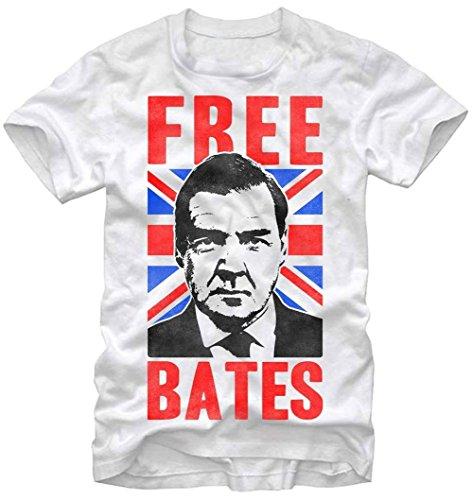 Downton Abbey Men's Downton Abbey Free Bates T-Shirt, White, X-Large