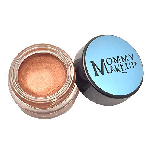 (Any Wear Creme in Hot Fudge (a milk chocolate brown with copper shimmer) - The ultimate multi-tasking cosmetic - Smudge-proof Eye Shadow, Cheek Color, and Lip Color all-in-one by Mommy Makeup)