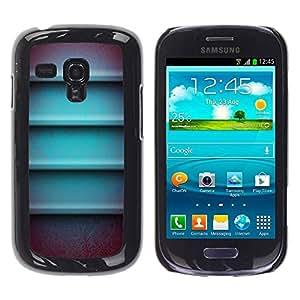 Paccase / SLIM PC / Aliminium Casa Carcasa Funda Case Cover para - Metal 3D Lines Horizontal Abstract - Samsung Galaxy S3 MINI NOT REGULAR! I8190 I8190N
