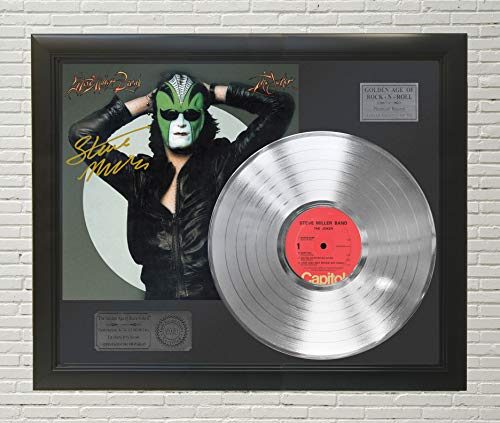 - Steve Miller Band - The Joker Framed Platinum LP Reproduction Signature Display