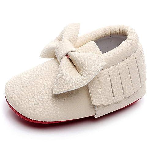 181e9f2c185 HONGTEYA Red Bottoms Shoes- PU Leather Newborn Baby Shoes Girl Boy  Moccasins Bebe Fringe Soft