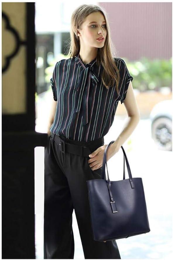 THINKMIC Borse A Mano Borsa da Donna in Similpelle Borsa A Tracolla Tinta Unita Grande Shopping Set Grey