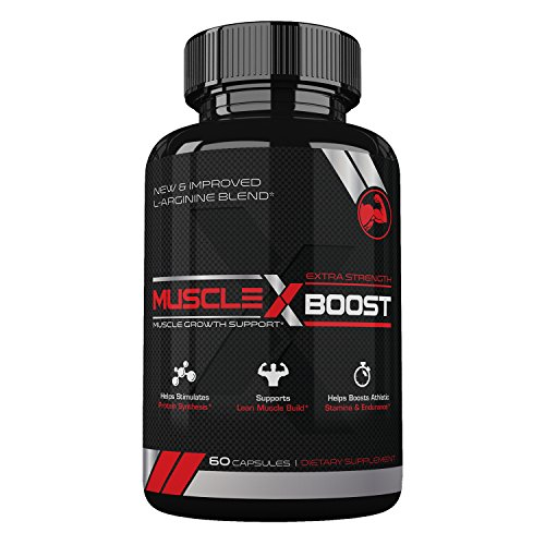Amplifier Pump Muscle (Best Selling- Muscle X Boost- Premium L-Arginine Formula- Extra Strength Muscle Growth Support- Nitric Oxide Booster-Build Lean Muscle-Stimulates Protein Synthesis-Boost Endurance)