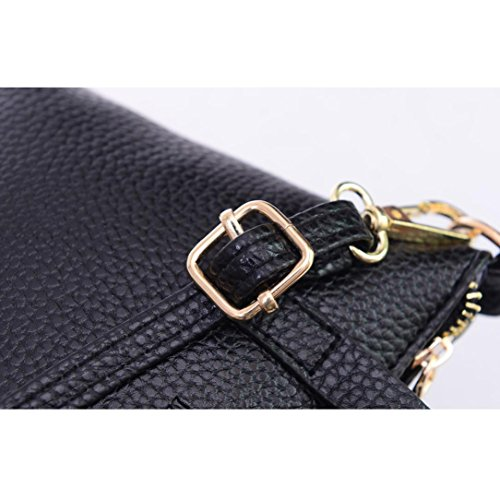 Bag Black Purse Tote Women Black Shoulder Kanpola Fashion Handbag Ladies AwvITx8qx