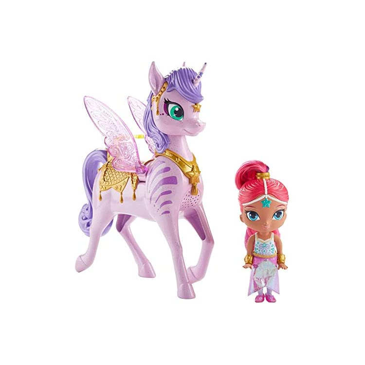 Shimmer and Shine FWH12 Shimmer and Magical Flying Zahracorn, Multi-Colour