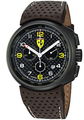 Ferrari F1 Fast Lap Carbon Fiber Dial Chronograph Men's Swiss Made Watch FE-10-IPGUN-CP-FC