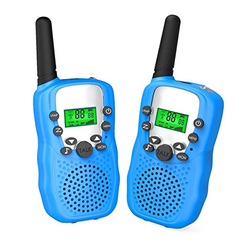 Kids Outside Toys for 4-10 Year Old Boys Joyfun Kids Walkie Talkies Two Way Long Range T388 Walky Talky for Hiking Outdoor Nature Exploration Christmas Birthday Gifts for 5-8 Year Old Boys JF-WT Blue