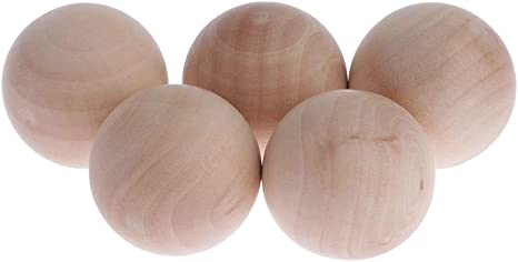 1.25-Inch HYGLOSS 9553 32-Piece Unfinished Wood Balls