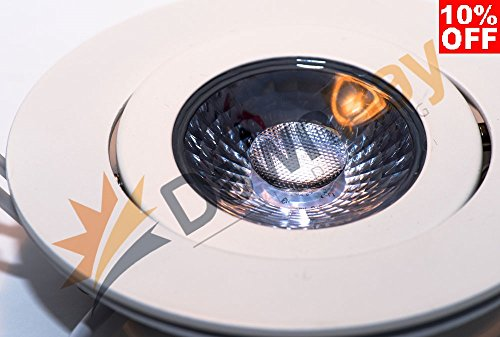 24 Pack,4'' Round Super-thin LED Downlight/Gimbal Lighting, LED Recessed, Slim panel, 9W, 4000K Natural White, 650LM, Airtight by Lighting & Electric
