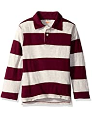 The Children's Place Boys' Long Sleeve Striped Polo