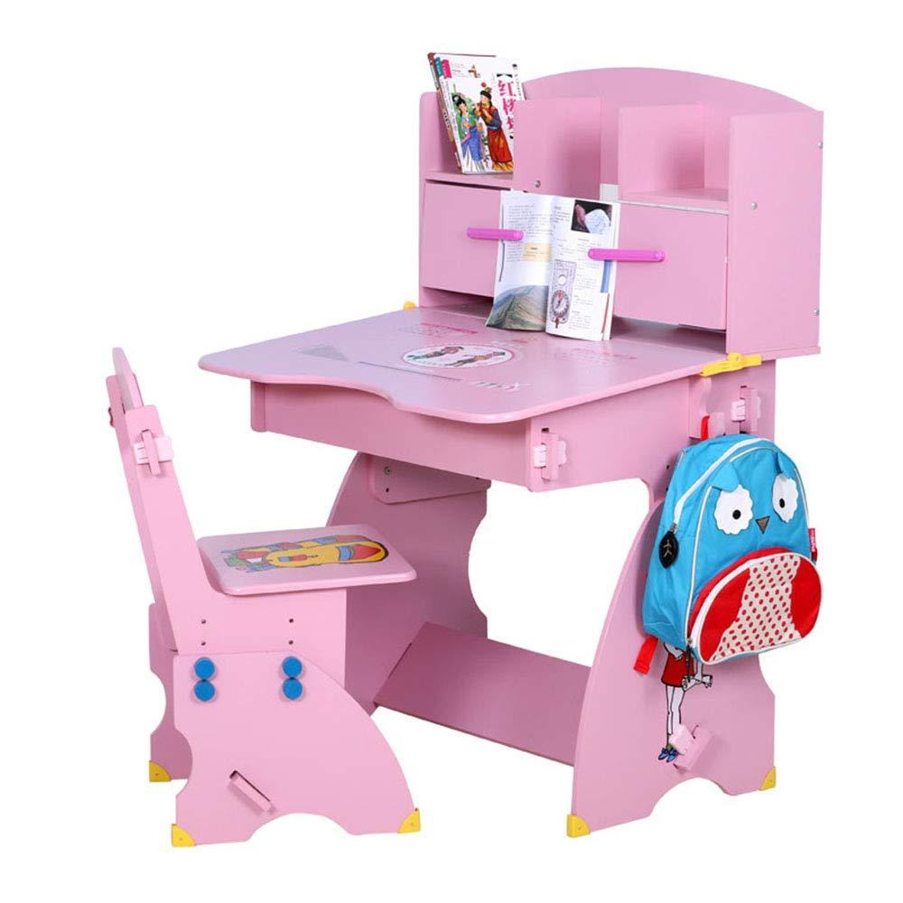 Ffion Kinder Schreibtisch & Stuhl Set, Set, Set, 0-15 Grad Tischplatte Verstellbare Neigung Zum Lernen (Rosa) 0914b9
