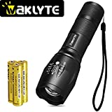 Waklyte S116A Super Bright Tactical Flashlight - 5 Modes, 1000 Lumens CREE LED, Zoomable, IPX4 Waterproof, Military Grade Handheld Torch for Hiking, Camping, Travel, Emergency and EDC