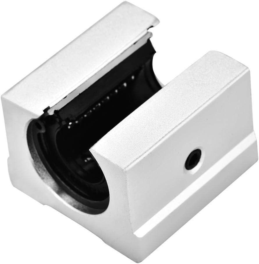 Aohi WXQ-XQ Open Linear Bearing Block 4Pcs High Hardness Low Noise Rustproof 16mm Aluminum Open Linear Motion Bearing Block Slide for CNC Industrial Machine Linear Guides