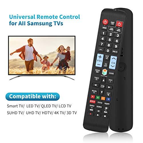 Universal Remote Control for Samsung TV Remote, Samsung Smart TV Remote, All Samsung LCD LED QLED SUHD UHD HDTV 3D Smart TVs