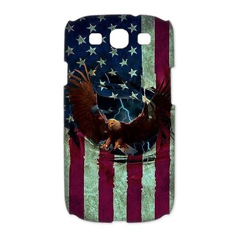 Bald Eagle Vintage American Flag Samsung Galaxy S3 I9300 Case Custom Cover (One Direction Ipod 5 Custom Case)