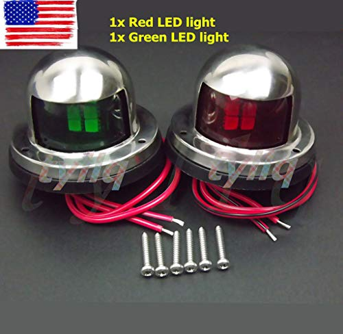 (One Pair Marine Boat Yacht Pontoon 12V Stainless Steel LED Bow Navigation LightsPurge Valve for Buick Cadillac CTS Chevrolet GMC Saturn 12610560)