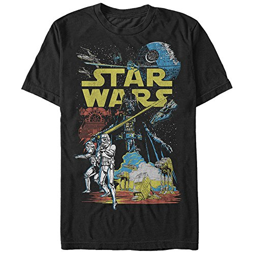 Star Wars Men's Rebel Classic Graphic T-Shirt, Black, L