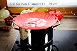 no boil over lid - LINFON Boil Over Protector Boil Over Universal Lid Fits Openings 6