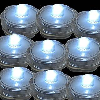 TDLTEK Submersible Led Lights - Tea Lights - for Wedding,Special Events, 6 Pack White
