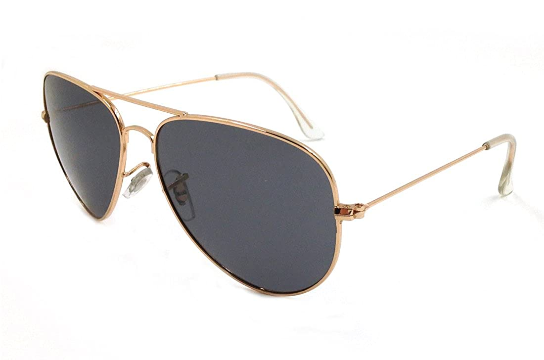 9c46ce4a38a Amazon.com  Laura Fairy Mirrored Uv400 Protection Aviator Polarized  Sunglasses-gold black  Clothing